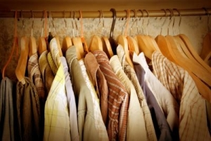 dressedhangingclothes